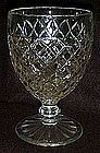 "Anchor Hocking Waterford Waffle 5 3/4"" goblet"