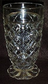 Anchor Hocking Waterford Waffle footed tumbler