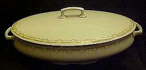 M&Z Austria Altrohlau covered oval casserole, roses