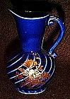 Chadwick mini ewer vase, cobalt blue with decoration