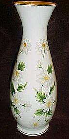 "Lefton 8 7/8"" daisy  daisies  vase, NICE"