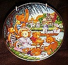 Franklin Mint Teddy Bear Picnic limited edition plate