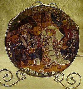 Franklin Mint teddy Bear Wedding collector plate