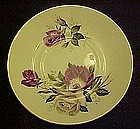 Bone china saucer, purple and white roses, England