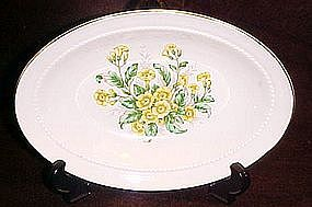 Vintage Buttercups pattern oval vegetable bowl
