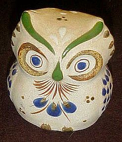 Two faced  Mexican owl figurine