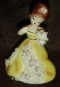 Vintage ceramic girl figurine, Josef Original?