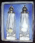Vintage hand cut crystal salt and pepper shaker set