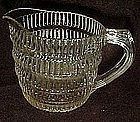 Vintage vertical ribbed clear glass creamer