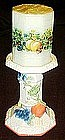 Sweet Country Harvest pillar candleholder with candle
