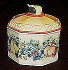 Sweet Country Harvest  octagon covered box / dish