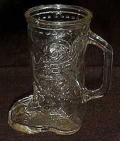 Glass boot  drinking mug