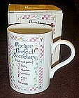 Gift mug, Recipe for a good Secretary, in box