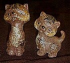 Vintage Schmid Brothers kitty cat figurines, pair