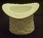 Daisy and Button milk glass hat, spooner