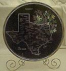 Metal souvenir state tray, Texas, all nice