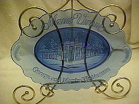 Avon Mount Vernon cobalt blue platter