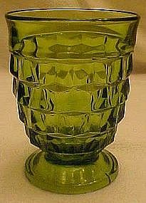 "Colony whitehall green footed  4 3/8"" glass"