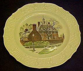 Historical Williamsburg Governor's palace plate