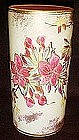Antique Cylinder vase, fuschias or poinsettias