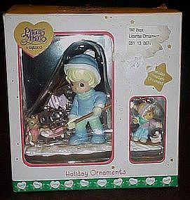 Enesco Precious Moments holiday ornaments in box