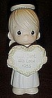 Precious Moments 1985 annual figurine God sent his love