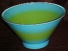 Retro large blue green spray mist salad bowl