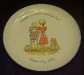 Holly Hobbie 1973 Mothers Day plate