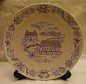 Brown County dinner plate, Royal China