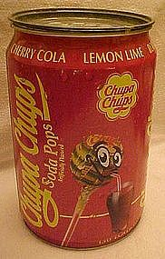 Chupa Chups Soda Pops store display tin container