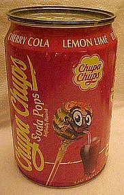 Chupa Chups Soda Pops store display tin container
