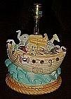 Noahs Ark, large ceramic table lamp