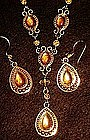 Avon  Victorian style necklace and earrings set