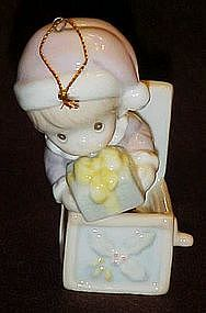 Precious Moments jack in the box porcelain ornament
