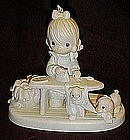 "Enesco Precious Moments figurine, ""Press On""  E9265"