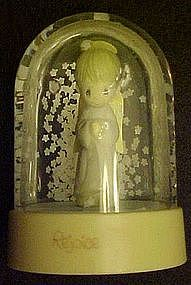Vintage  Precious Moments snow globe, Rejoice