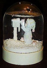 Precious Moments snow globe, I'm sending you a white...
