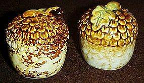Fall harvest, stoneware acorn salt and pepper shakers