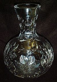 Beautiful vintage cut crystal water carafe. flowers