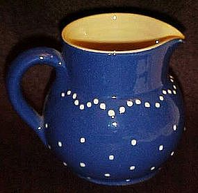 Great potery cream pitcher, cobalt glaze