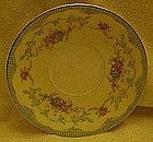 Noritake saucer, Marlene pattern,  green with floral