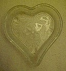 Tiara sandwich pattern,  crystal heart shape nut dish