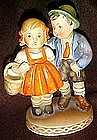 Hummel look boy and girl figurine, by Harvan  Japan