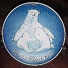 Royal Copenhagen, 1974 Mothers Day plate, Polar Bears