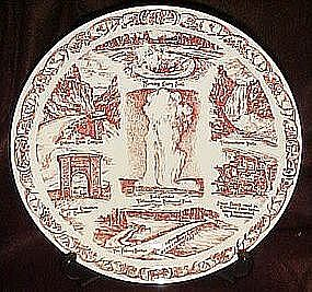 Vernon Kilns, souvenir plate of Yellowstone Park