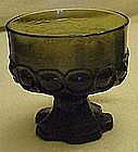Tiffin Madeira footed sherbert glass, olive green