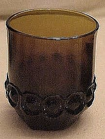 "Tiffin Madeira  3 7/8"" rocks tumbler, smoke brown"