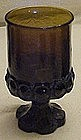 Tiffin Madeira footed wine glass, smoke brown
