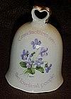 Grandmothers rembrance porcelain  bell, violets