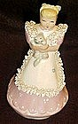 Vintage Kathy Lou figurine by Ynez, lady with cat